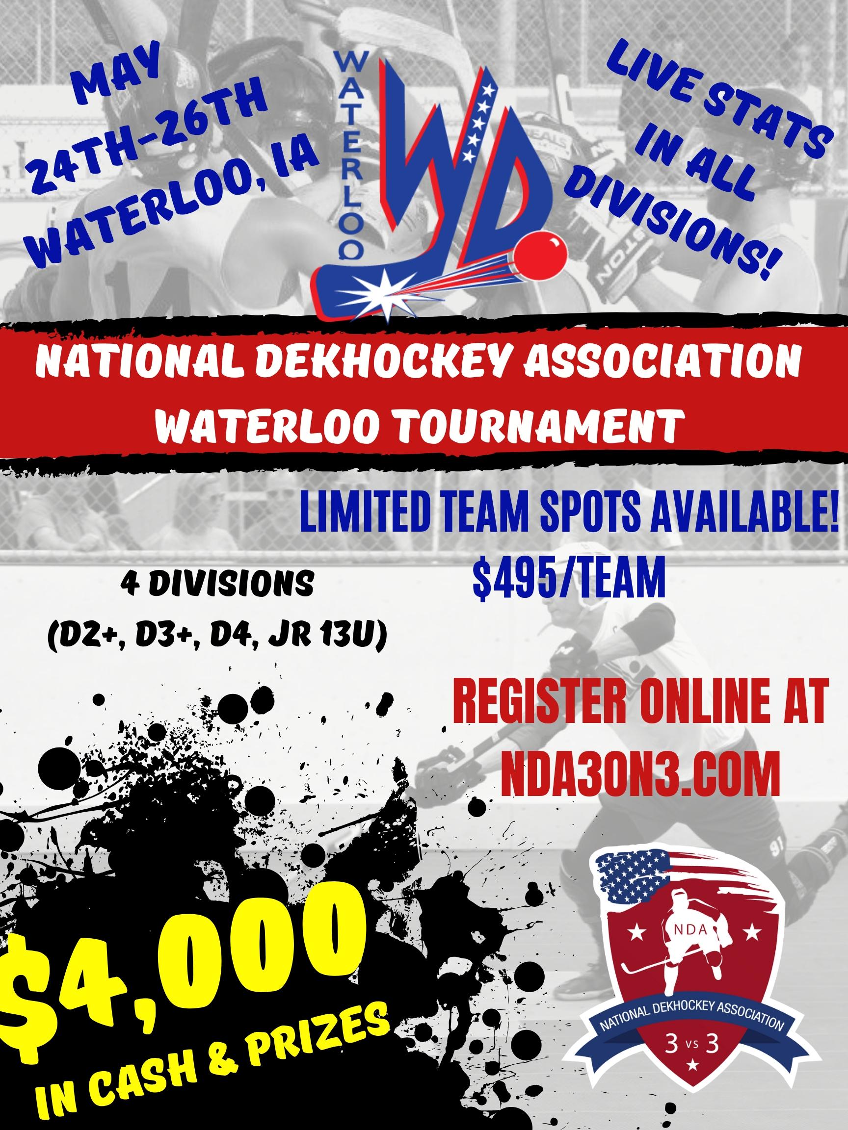 News - 2019 NDA WATERLOO DEKHOCKEY TOURNAMENT - Quad City